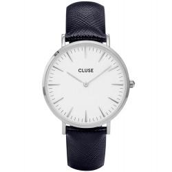 CLUSE Reloj La Bohème Silver White Midnight Blue