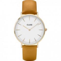 CLUSE Reloj La Bohème Mesh Gold White CL18419