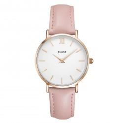 CLUSE Reloj La Bohème Silver White Blue Denim