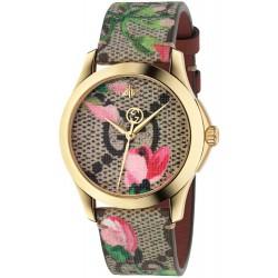 Reloj Gucci G-Timeless 38mm PVD dorado piel motivo floral