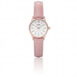 CLUSE Reloj La Vedette Rose/blanco/piel rosa