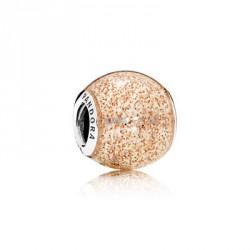 Pandora Charm plata ESFERA DE ORO ROSA BRILLANTE 796427EN145
