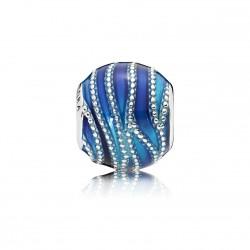 Pandora Charm PLATA Remolino Azul