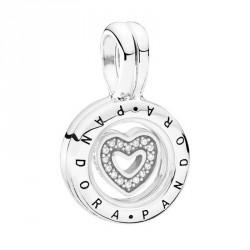Charm Pandora plata Locket corazón circonitas 792144CZ