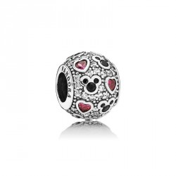 Pandora Disney charm plata Mickey and corazones 791457CZ