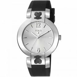 Reloj Tous Plate Round silicona negro 400350900