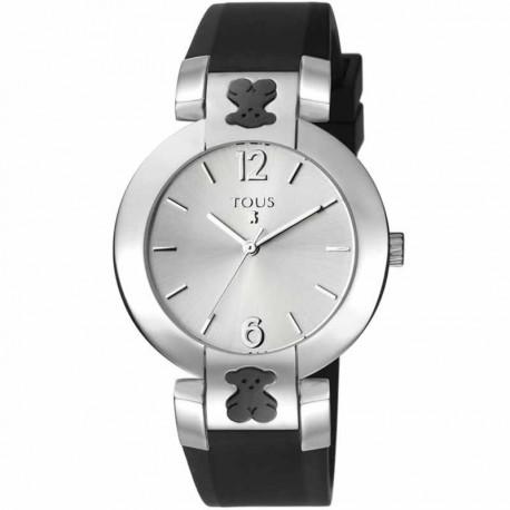 Reloj Tous Plate Round silicona negro