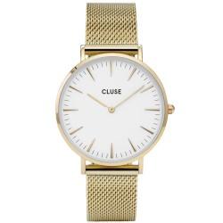 CLUSE Reloj La Bohème Mesh Gold WhiteCL18109