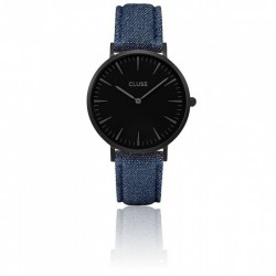 CLUSE Reloj La Bohème Full Black Blue Denim