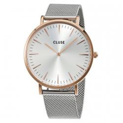 CLUSE Reloj La Bohème Mesh Rose White CL18116