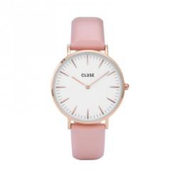 CLUSE Reloj La Bohème Rose White piel CL18014