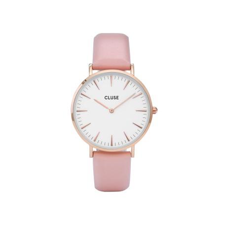 CLUSE Reloj La Bohème Mesh Rose White CL18014