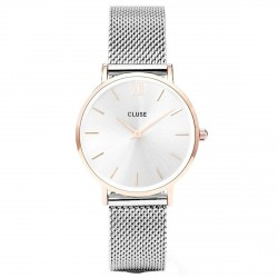 CLUSE Reloj Minuit 33mm CL30025 Rosè esfera plata