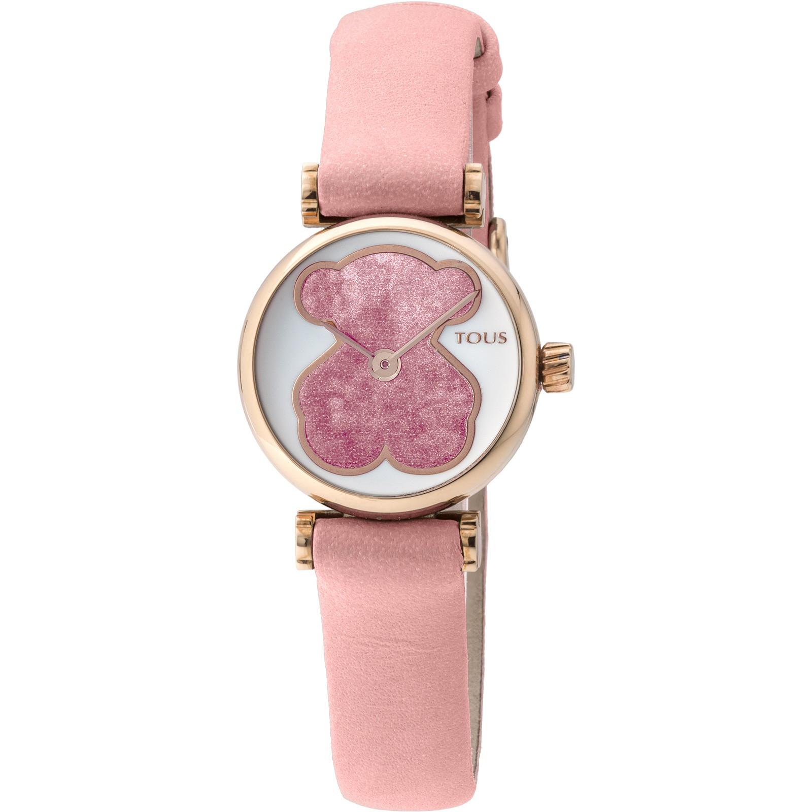 b182e16991c6 Reloj Tous Camille 21 oso rosa esmalte piel rosa 700350050