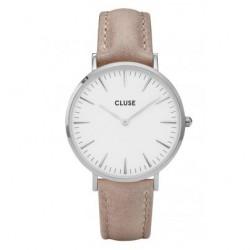 CLUSE Reloj La Bohème plateado White/Marrón CL18234