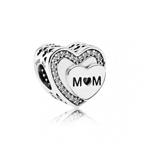 Charm Pandora Corazón Mum 792070CZ