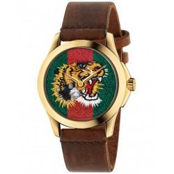 Reloj Gucci G-Timeless 38mm PVD dorado Tigre bordado YA126497