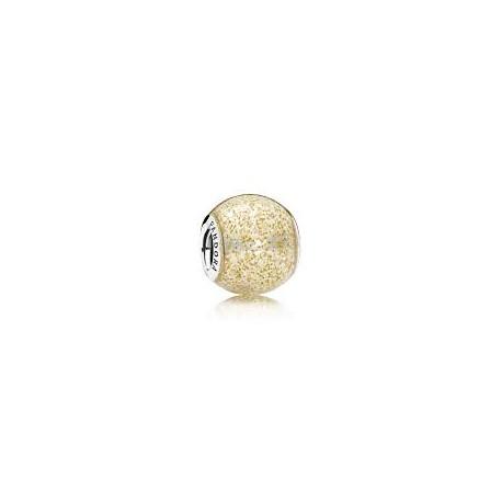 Pandora Charm plata ESFERA DE ORO BRILLANTE 796327EN146