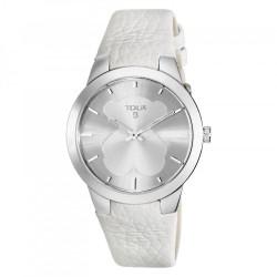 Reloj Tous BFACE ss ivory acero piel blanca