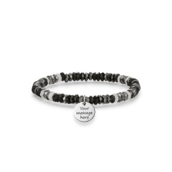 PULSERA LOVE BRIDGE MULTIPIEDRA NEGRO