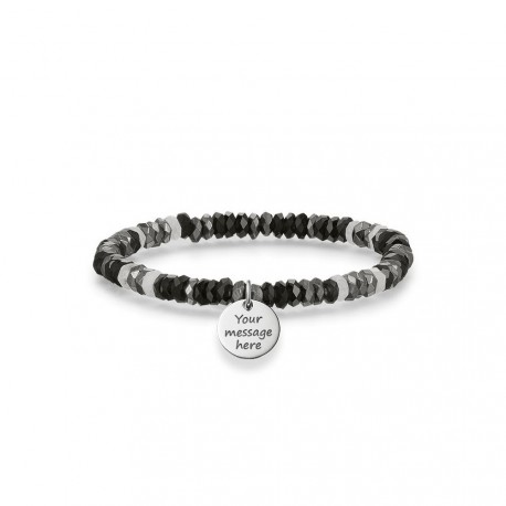 PULSERA 'LOVE BRIDGE' MULTIPIEDRA NEGRO