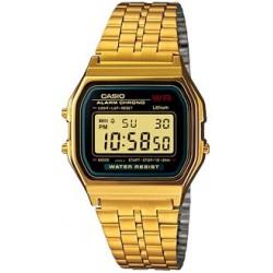 Reloj Casio digital classic dorado esfera negra