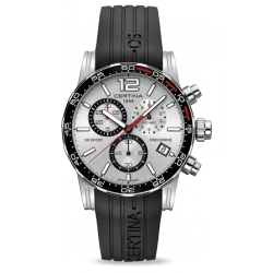 RELOJ CERTINA DS SPORT CHRONO SILVER RUBBER
