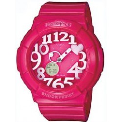 Reloj Casio Baby-G analógico y digital hearts pink