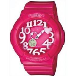 Reloj Casio Baby-G analógico y digital hearts pink