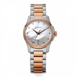 GUCCI G TIMELESS QUARTZ SMALL ROSE GOLD DIAMANTES