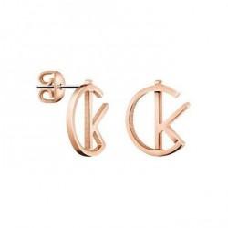 Calvin Klein Pendientes LEAGUE Rose Gold