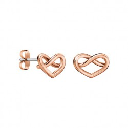 Calvin Klein Pendientes CHARMING Rose Gold