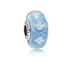 Pandora charm cristal murano 791666 Campo de Flores Azul