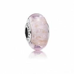 Charm Pandora cristal de Murano Rosa Brillo 791670
