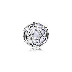 Pandora charm Plata Corazones cristal 792036NOW