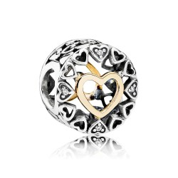 Pandora Charm Plata Círculo del Amor 792009CZ