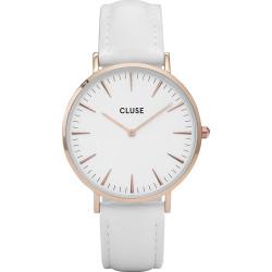 CLUSE Reloj La Bohème Rose White piel blanca CL18042