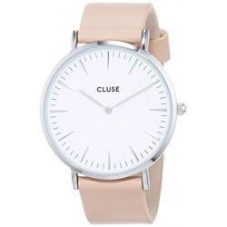 CLUSE Reloj La Bohème plateado White/Rosa CL18231