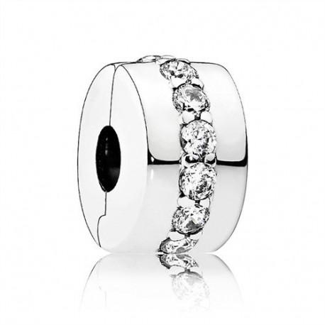 Charm Pandora Clip Elegante circonitas tránsparentes fina