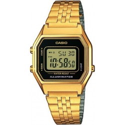 Reloj Casio retro digital dorado