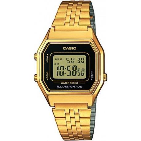 Reloj Casio retro digital dorado