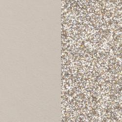 LES GEORGETTES cuero reversible 25MM Crema / Glitter Oro 702755199C4