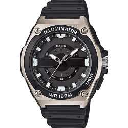 CASIO COLLECTION ILUMINATOR ACERO NEGRO MWC-100H-1AVEF