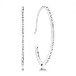 Pandora Pendientes en plata de primera ley Deseos Clásicos