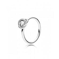 Pandora Anillo plata Luminous circonita y perla