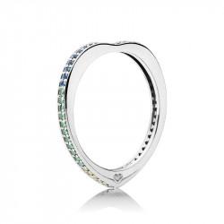 Pandora Anillo plata Arco de amor multicolor