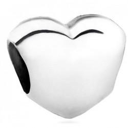 Charm Pandora Corazón liso en plata de ley 790137