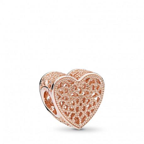 Charm Pandora Corazón Calado Rose 781811