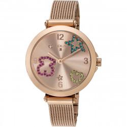 Reloj Tous Icon Mesh de acero IP rosado 600350390
