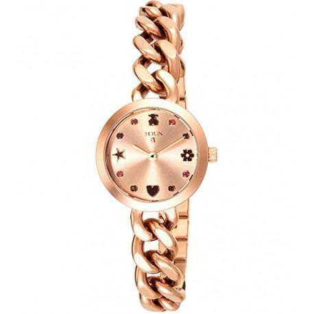 Reloj Tous de acero IP rosado 500350260